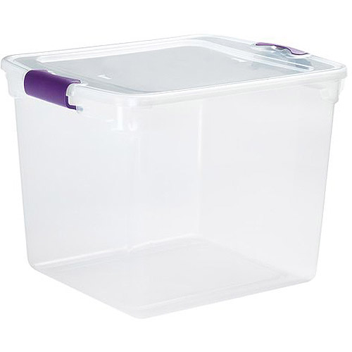 Homz 31 Quart Clear Latching Storage Container, Set of 8