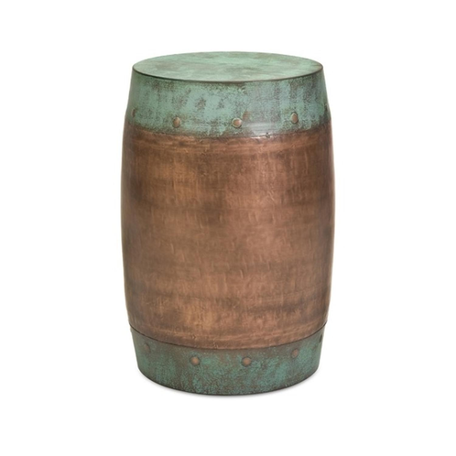 "19.25"" Hammered Texture Copper-Plated Floor Stool"