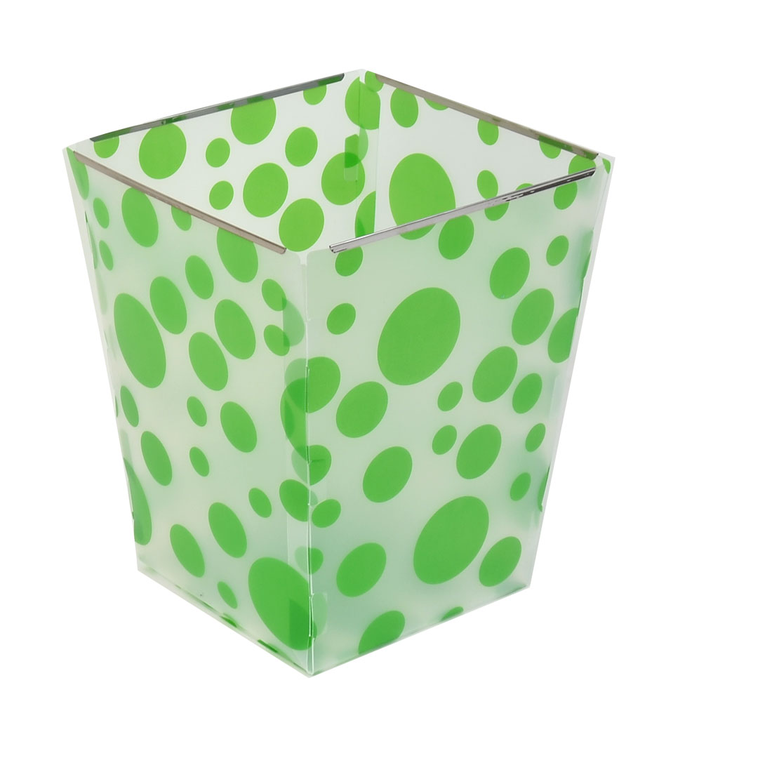 Foldable Paper Waste Bin Bucket Garbage DIY Can Container Clear White Green