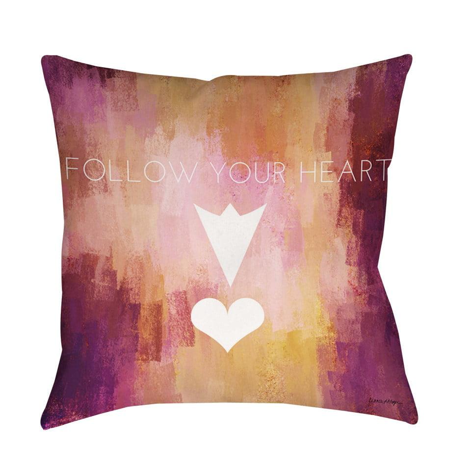 Thumbprintz Follow Your Heart Decorative Pillow