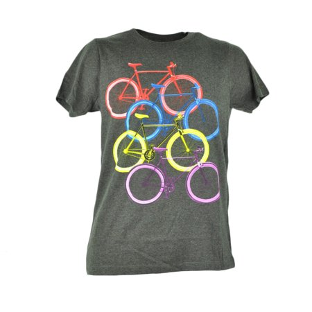 Fifth Foundation Fixies Fixed Gear Colored Bikes Bicycle Grey Tshirt Tee (Faith Gear)