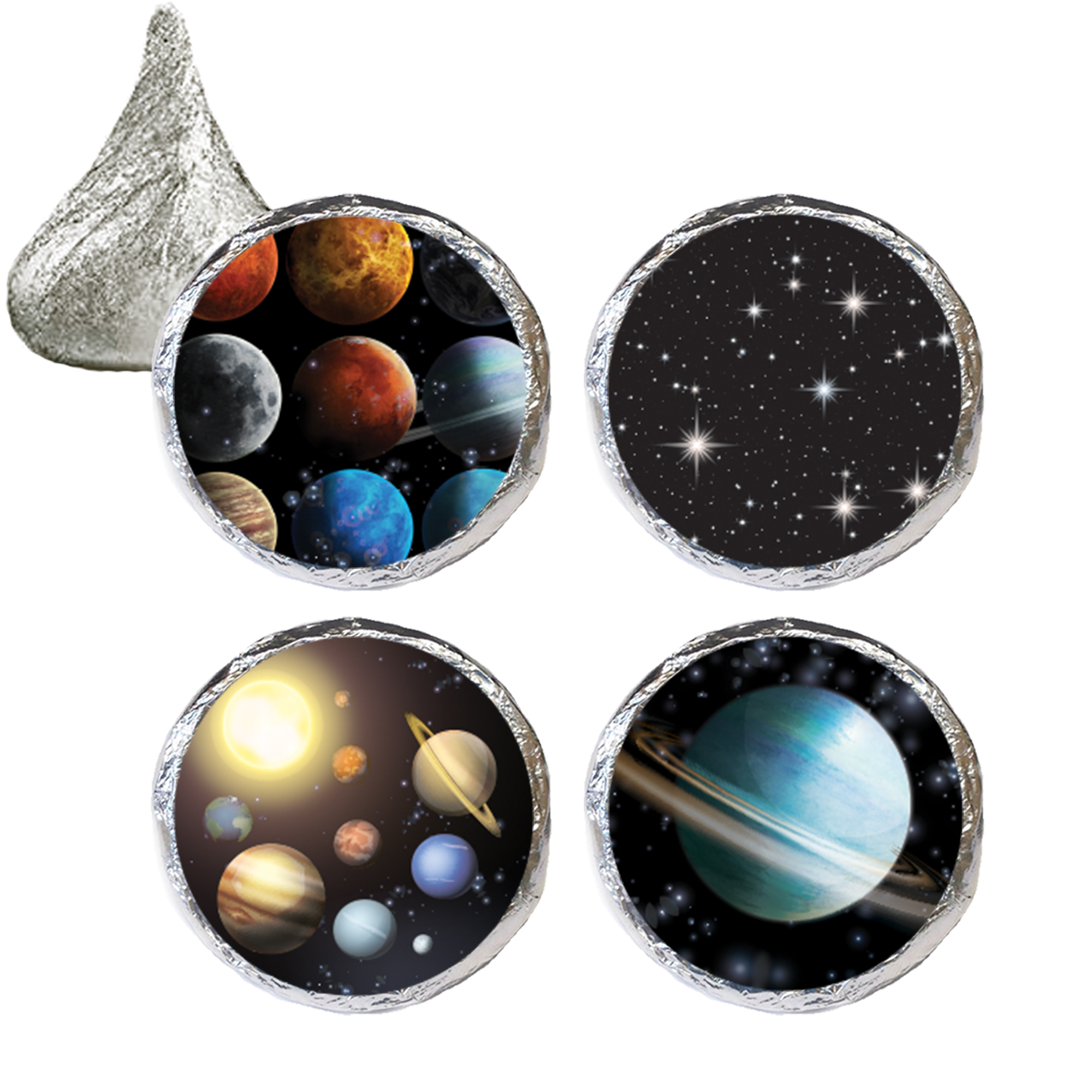 Outer Space Party Favor Stickers, 324ct, Outer Space Birthday Party Favors Solar System Galaxy Planets Birthday Party Supplies - 324 Count Stickers
