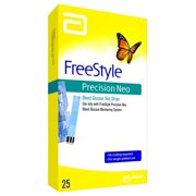 Freestyle Precision Neo Blood Glucose Test Strips, 25 Ct