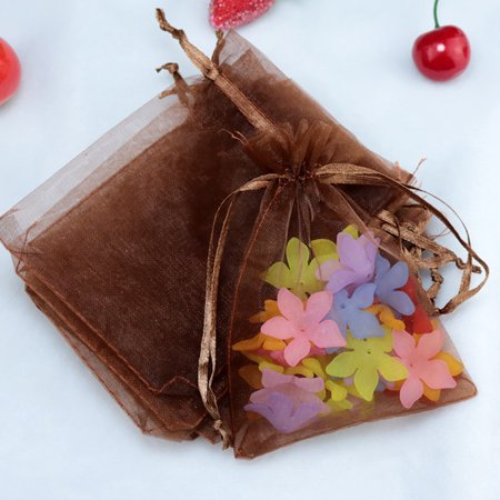 100 Pcs Organza Bags Luxury Quality Wedding Jewellery Gift Favour Pouch