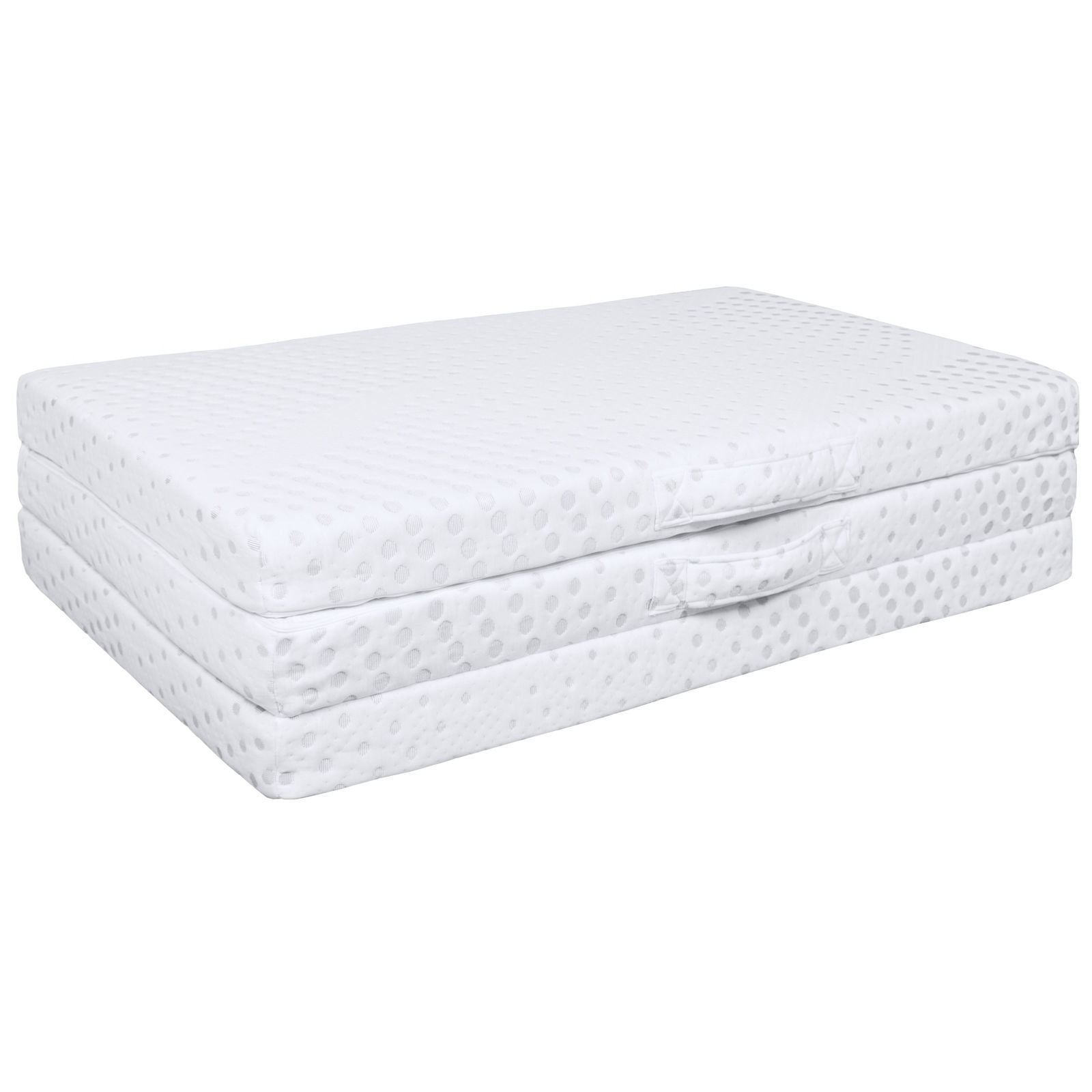Ghp 3 Quot Portable Tri Fold Twin Size Memory Foam Mattress Topper With Removable Cover Walmart