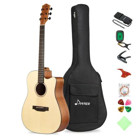 Donner DAG-1C Beginner Acoustic Guitar Full Size, 41
