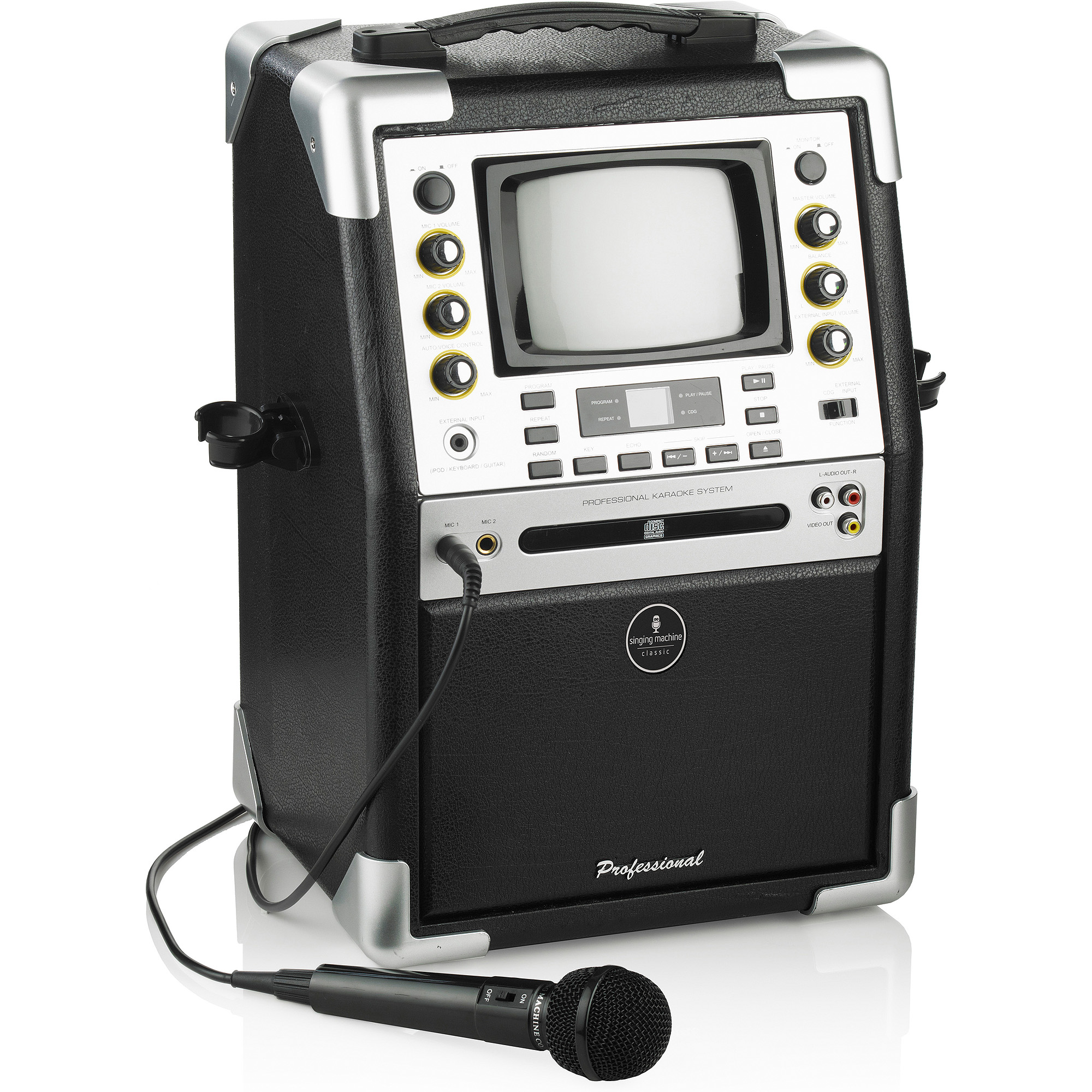 """Singing Machine SMG901 CD+G Karaoke System with 5.5"""" B&W Monitor and Microphone"""