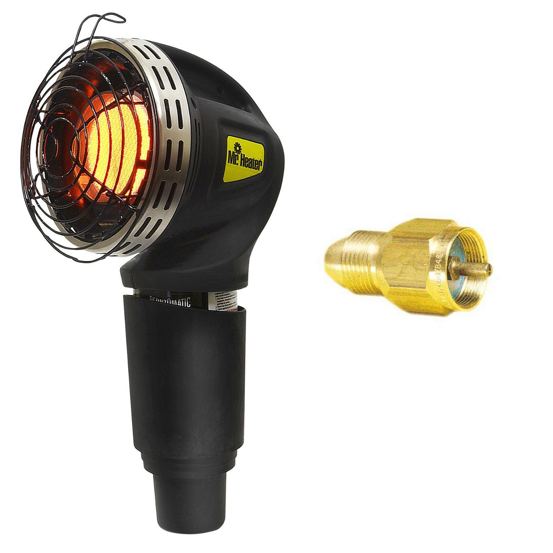 Mr. Heater 4,000 BTU MH4GC Golf Cart Heater + Mr.Heater Refill Adapter