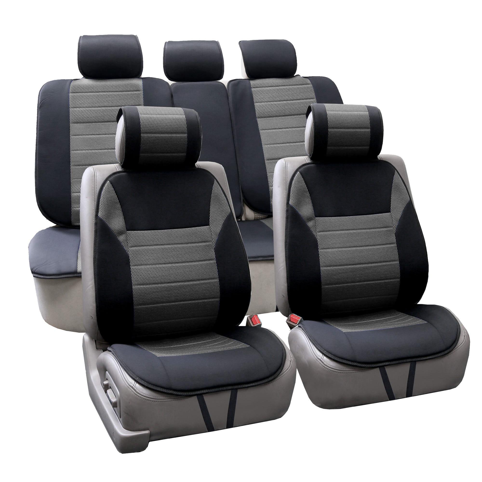 FH Group  Grey Thick Foam Padding Seat Cushion Pads (Full Set)