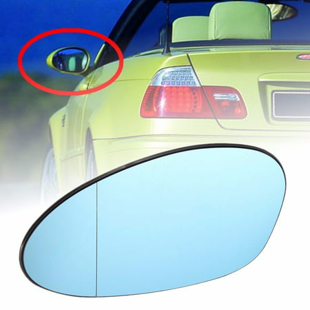 Left Side Heated Wing Mirror Glass Blue For BMW M3 E46 328i 335i E90 E92 -