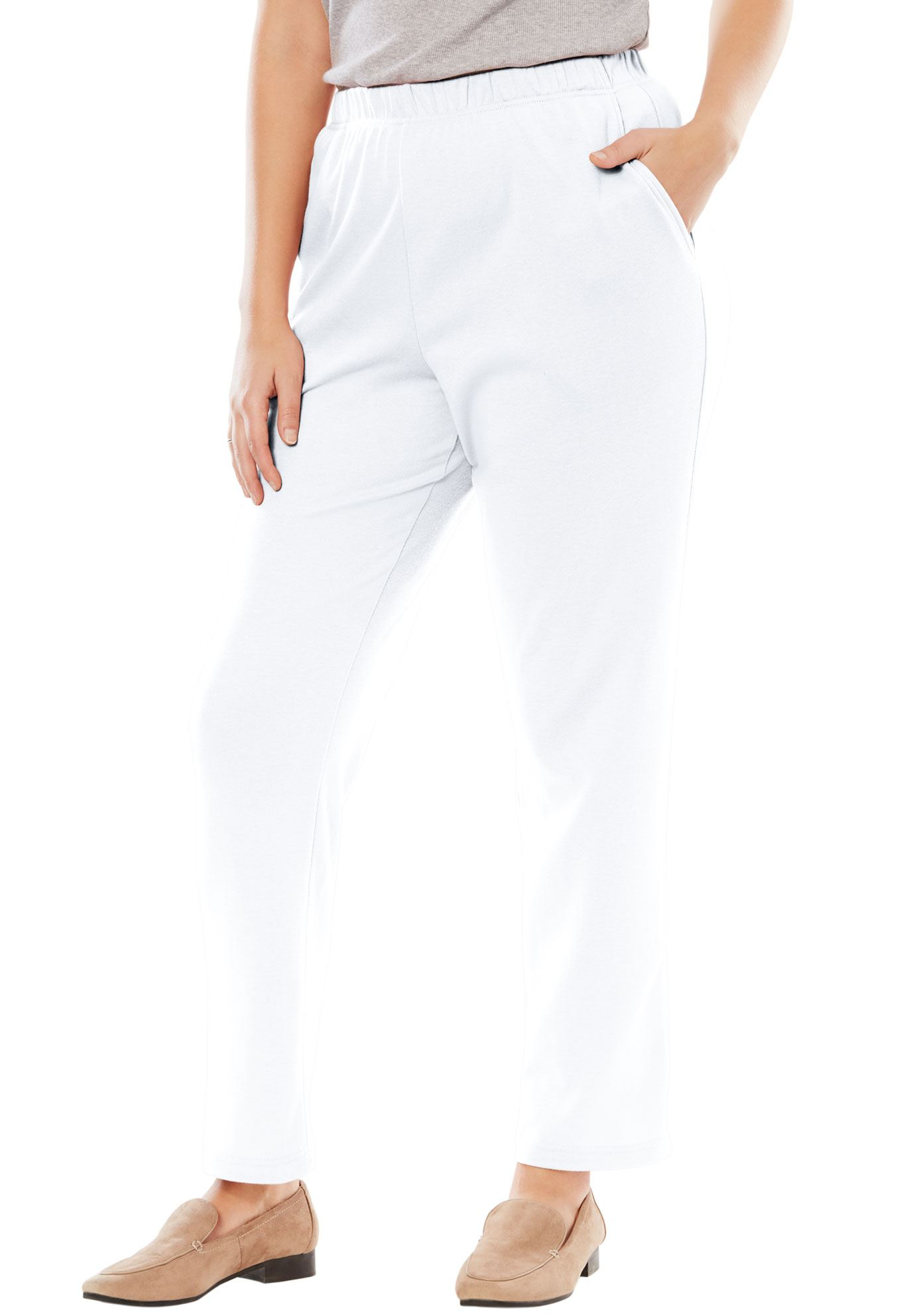 Woman Within Plus Size Tall 7-day Knit Straight Leg Pant