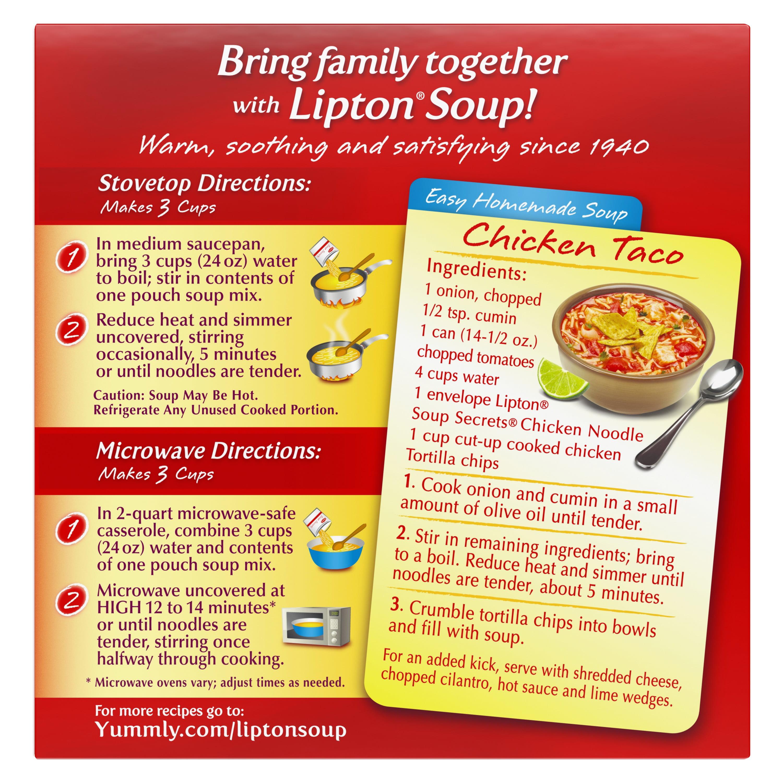 Lipton Soup Secrets Chicken Noodle Instant Soup Mix, 4 2 oz