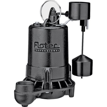 Flotec E50vlt Professional Submersible Sump Pump With Vertical Float Switch  4800 Gph  1 2 Hp