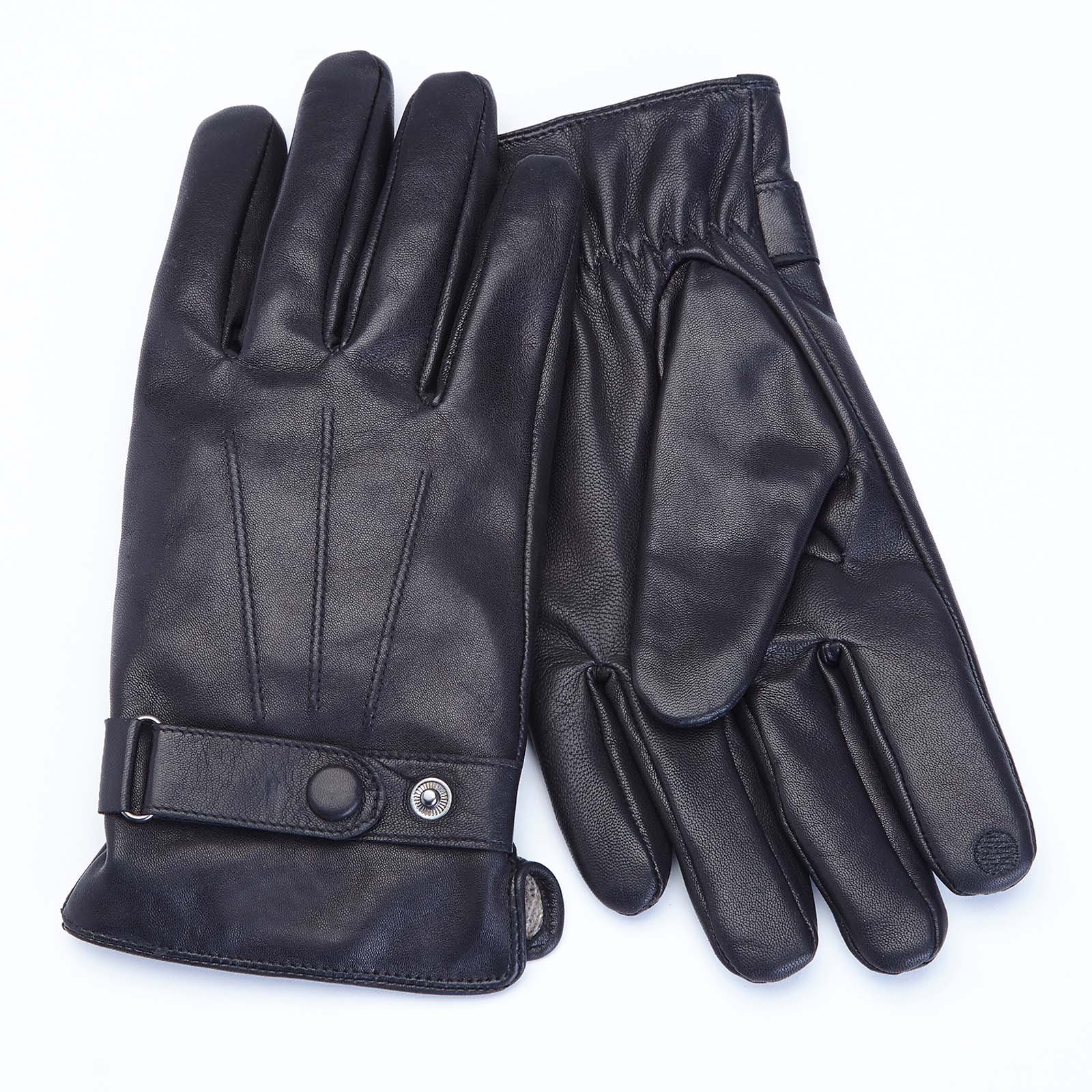 Mens Lambskin Leather Cellphone Tablet Touchscreen Gloves
