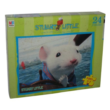 Stuart Little Mouse Milton Bradley 24pc Children Kids Puzzle
