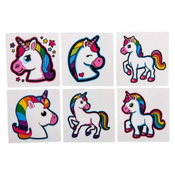 Kco Brands Unicorn Tattoos 2 Rainbow Unicorn Tattoos Temporary Tattoos For Kids Girl Party Tattoo Fun Gift Party Favors Party Toys Goody Bag Favors Cool And Fun