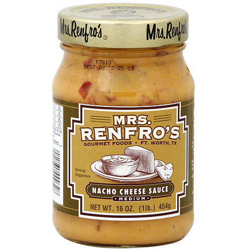 Mrs. Renfro's Medium Nacho Cheese Sauce, 16 oz (Pack of 6)
