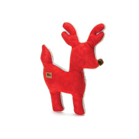 Red Color Big Sky Reindeer Holiday Squeaker Toy  Big Sky Reindeer Is A Fun Eco Friendly Way For Your Pooch To Celebrate The Holidays      By West Paw