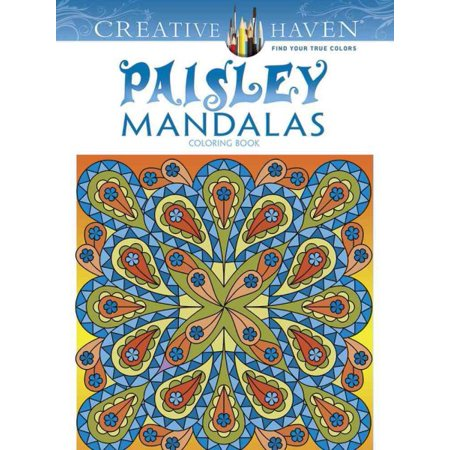 Paisley Mandalas Adult Coloring Book - Coloring Pages For Girls 10 And Up