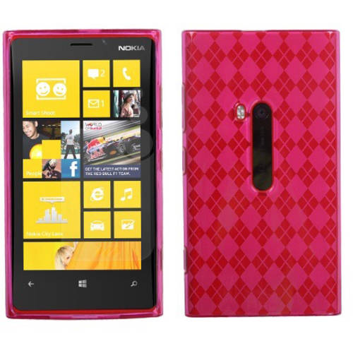Nokia 920 Lumia MyBat Candy Skin Cover, Smoke Argyle
