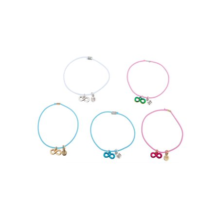 Lux Accessories Multicolored Strand Infinity Metallic BFF Plated Strand Bracelet
