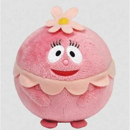Foofa Yo Gabba Gabba Beanie Ballz - Stuffed Animal by Ty (38060) - Foofa Yo Gabba Gabba