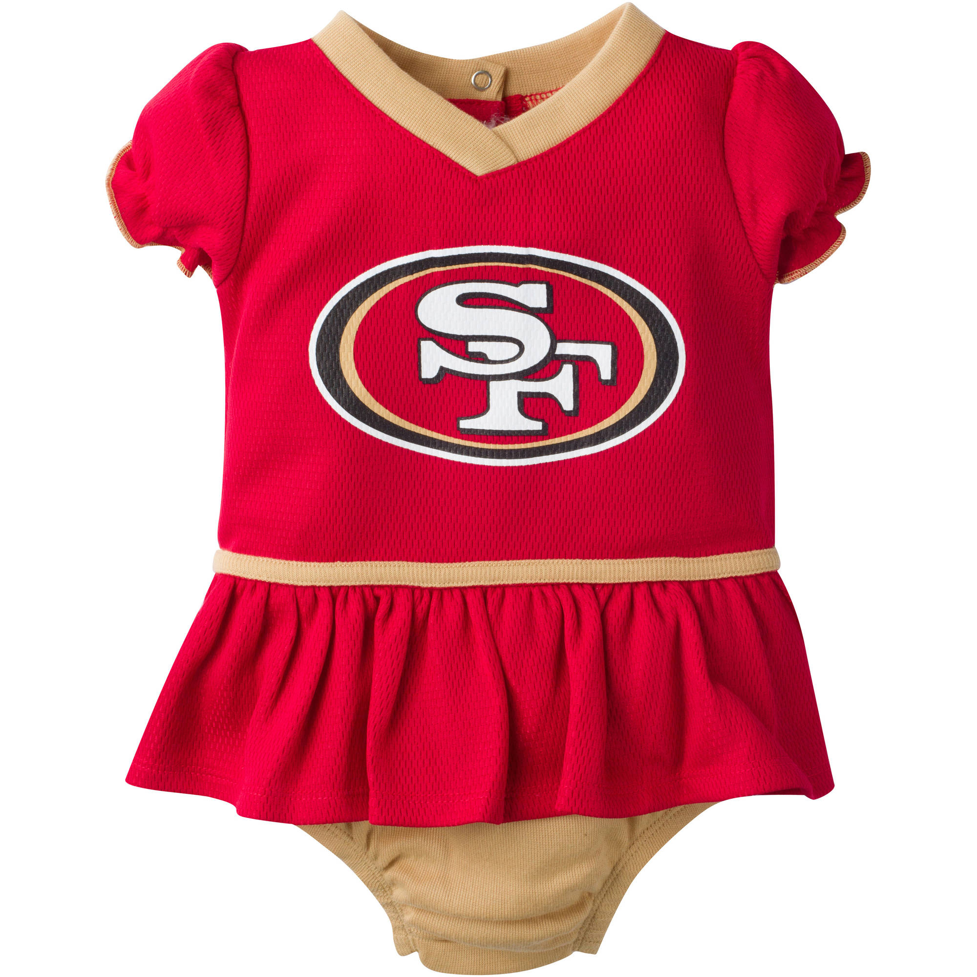 NFL San Francisco 49ers Baby Girls Mesh Dazzle Dress and Panty Set, 2-Piece