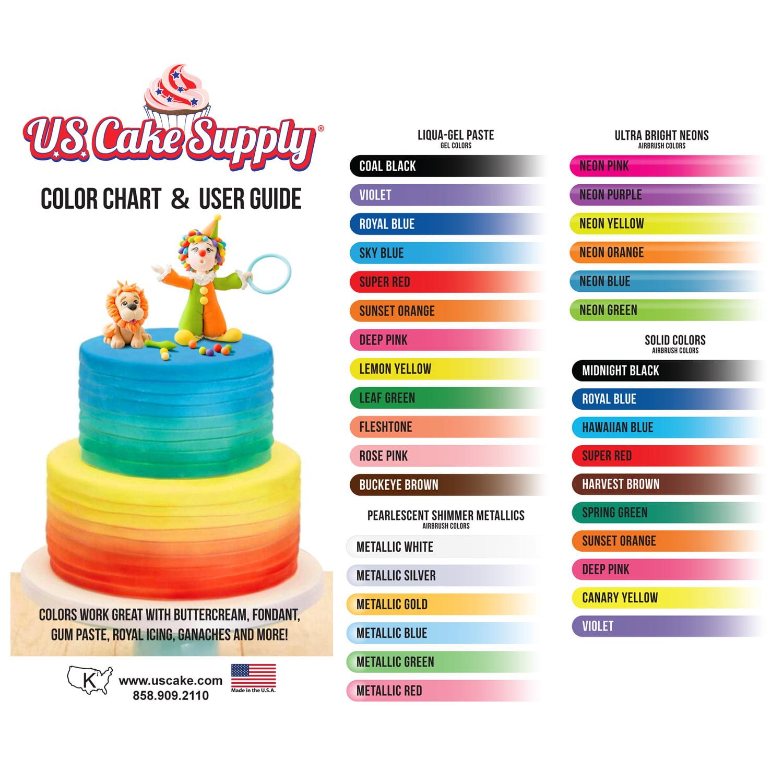 Chefmaster Airbrush Food Coloring Set 12 Popular Colors In 2 Fl