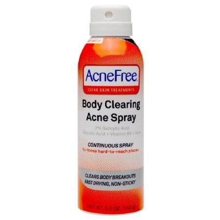 AcneFree Body Clearing Acne Spray, 5 Oz