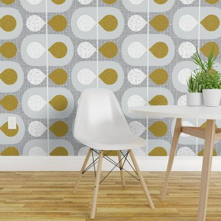 Peel and Stick Removable Wallpaper Mid Century Modern Scandinavian Abs