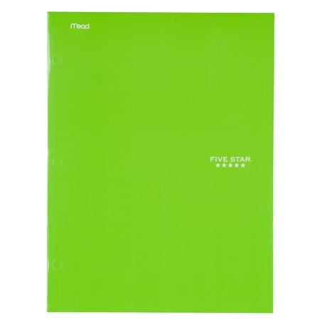 - Five Star 4-Pocket Paper Folder, Lime