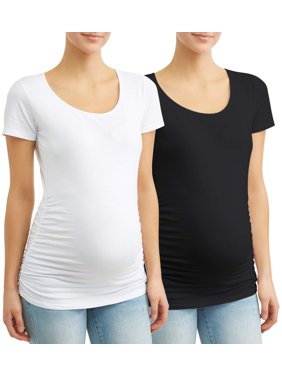 Oh! Mamma Maternity Scoop Neck Tee 2 Pack - Available in Plus Sizes