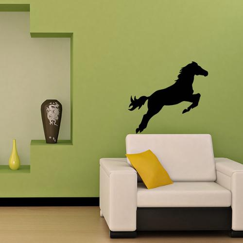 Beautiful Jumping Horse Animal Black Vinyl Wall Decal