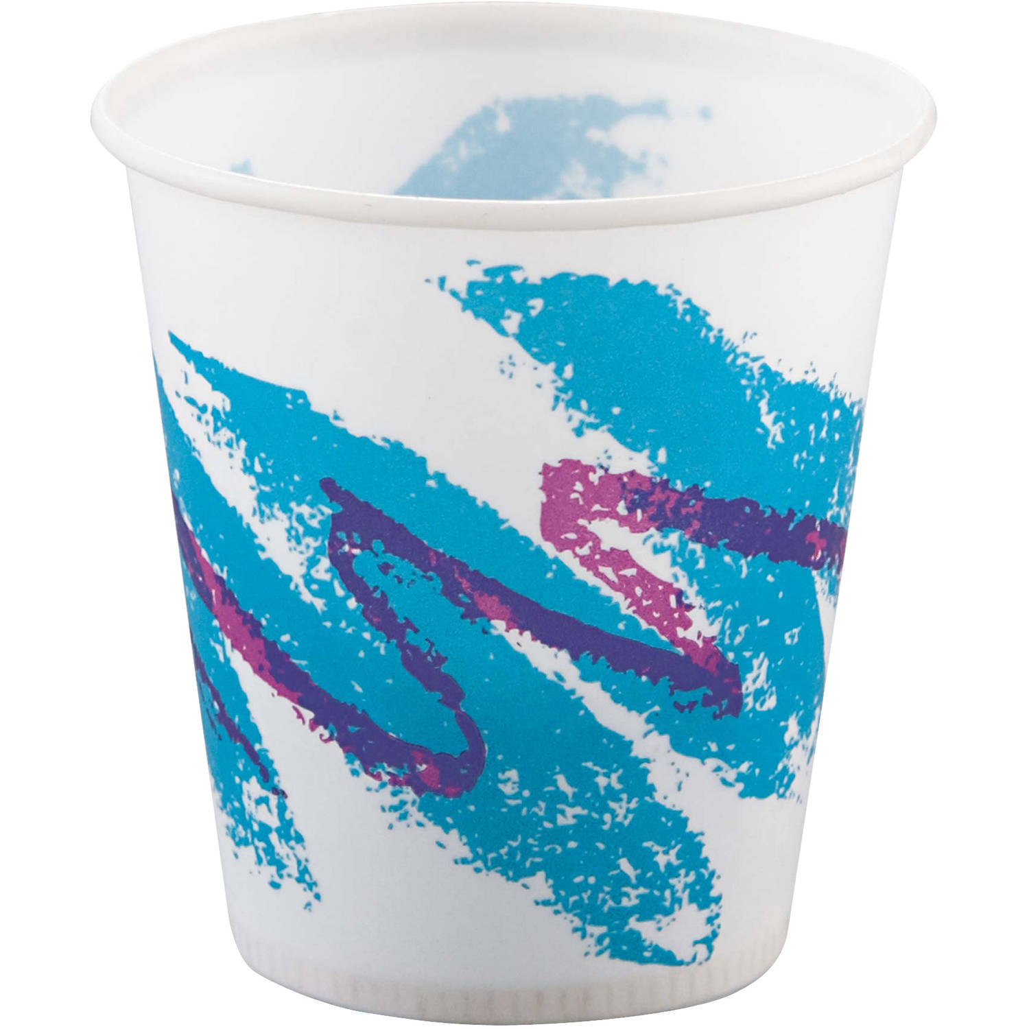 SOLO Cup Company Jazz 3 Oz Waxed Paper Cold Cups, 100 count, (Pack of 50)