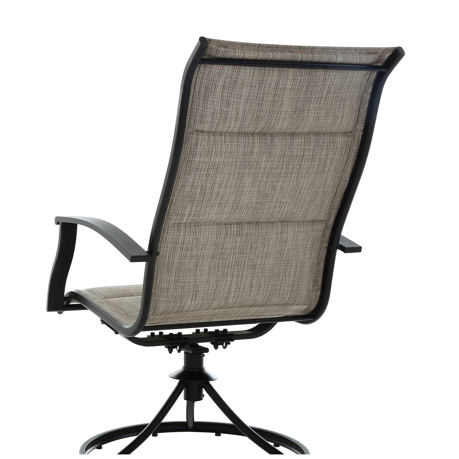 Mainstays Highland Knolls 4pc Outdoor Dining Sling Chair   Tan, BOX 1 OF 2    Walmart.com