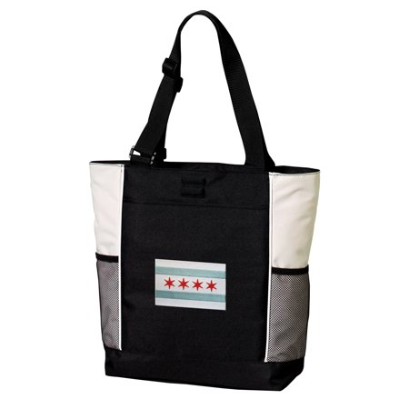 Deluxe Chicago Tote Bag Best Chicago Flag Totes (Best Cable Company In Chicago)