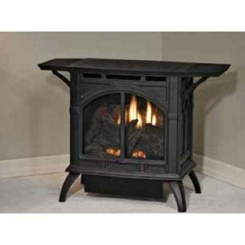 Heritage Cast Iron Porcelain Black Stove VFD10CC30BN - Natural Gas