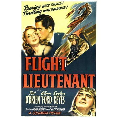 Ford Pats Key (Flight Lieutenant Us Poster Top From Left Evelyn Keyes Glenn Ford Bottom Right Pat OBrien 1942 Movie Poster)