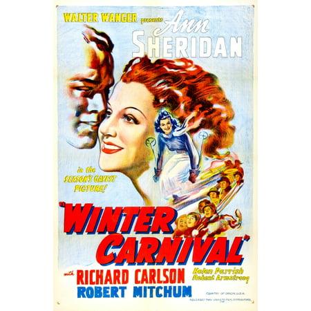 Winter Carnival Us Poster Ann Sheridan 1939 Movie Poster