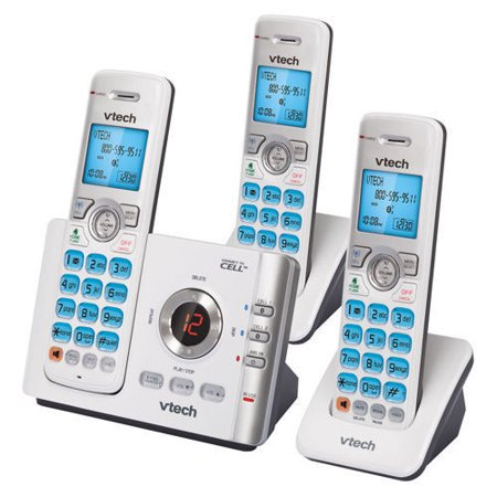 VTech DS6722-3 DECT 6.0 3 Handset Cordless Phone w/ Digital Answering System New Digital Operator Phone System