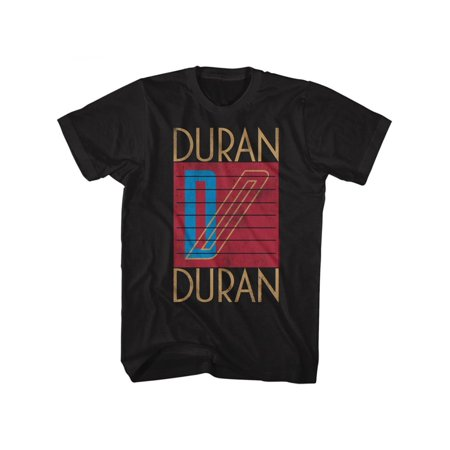 Duran Duran LOGO 4X Cotton T-shirt Black Adult Men's Unisex Short Sleeve T-shirt Logo Cotton Print