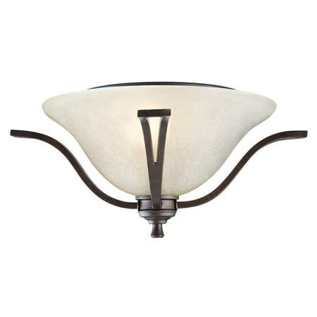 Design House 517532 Ironwood Two-Light Flush Mount Ceiling Light, Brushed Bronze
