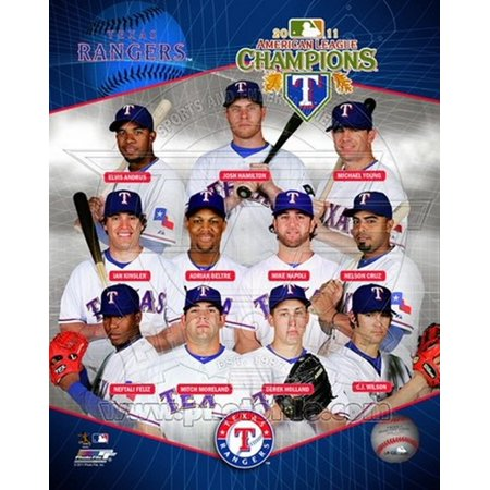 Texas Rangers 2011 American League Champions Composite Sports Photo