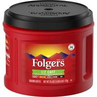 Folgers Half Caff Ground Coffee, Medium Roast, 25.4-Ounce
