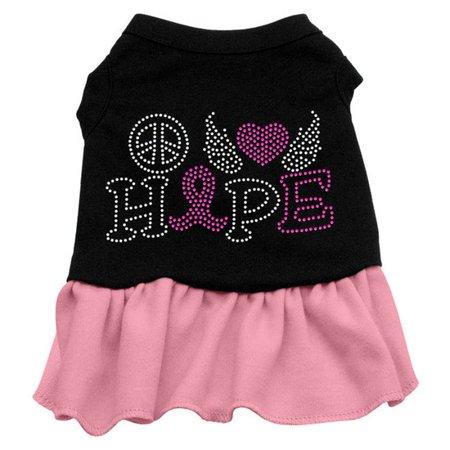 Mirage 57-62 MDBkLpk Love Hope Breast Cancer Pet Dress Black w/Lt Pink Med for $<!---->