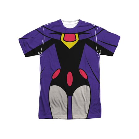 Teen Titans Go! Animated DC TV Series Raven Uniform Adult Front Print T-Shirt - Raven Bar Dc