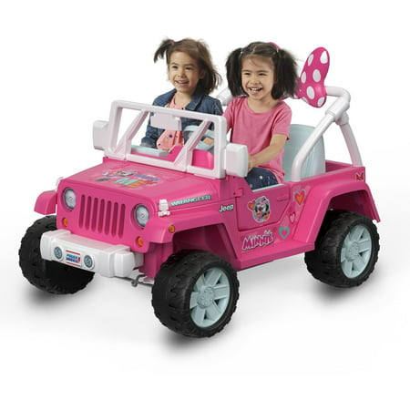 Power Wheels Jeep Wrangler Featuring Disney Minnie Happy Helpers (Barbie Power Wheels Jeep Battery)