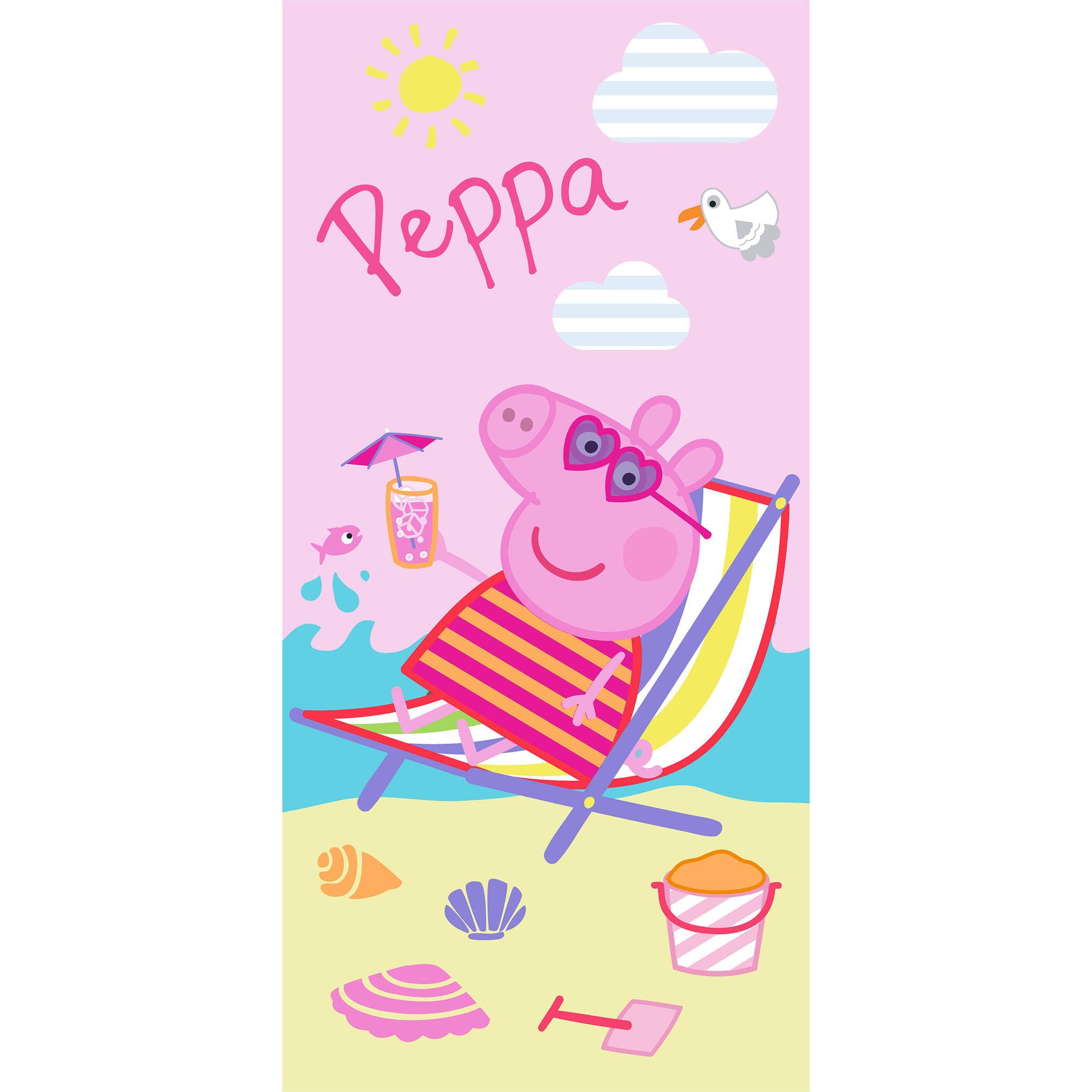 "Peppa Pig Cooling Off 28"" x 58"" Kids Beach Towel"