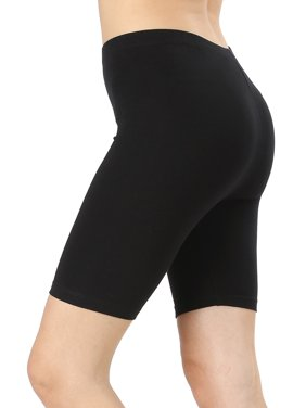 1eedd341a038d1 Product Image Womens & Plus Soft Cotton Stretch Knee Length Leggings  Fitness Sport Biker Shorts