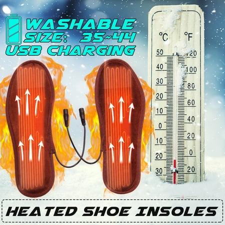 1 Pair Heated Shoe Insoles USB Electric Powered Feet Warmer Sock Pad Mat 5